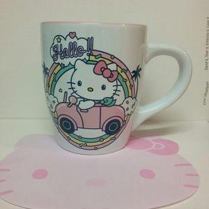 Hello Kitty Pink Car Rainbow Confetti Mug 25 oz